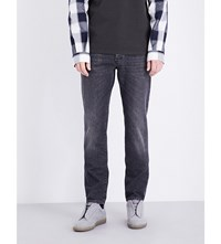 Maison Martin Margiela Slim Fit Tapered Denim Jeans Black Denim