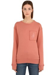 J.W.Anderson Jwa Anchor Patch Cotton Sweatshirt Pink