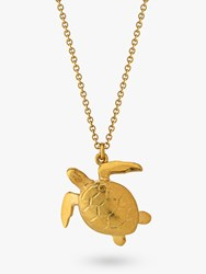 Alex Monroe Sea Turtle Pendant Necklace Gold