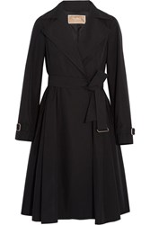 Max Mara Pleated Shell Trench Coat Black