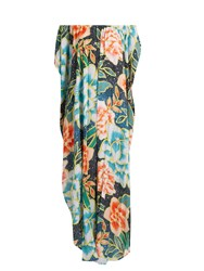 Mara Hoffman Arcadia Cover Up Maxi Dress Blue Multi