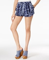 American Rag Juniors' Printed Tulip Front Soft Shorts Only At Macy's Navy Combo