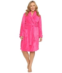 Lauren Ralph Lauren Plus Size So Soft Short Robe Pink Women's Robe