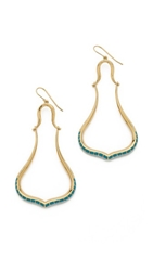 Aurelie Bidermann Sculpted Tribal Earrings Gold