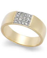 Victoria Townsend Diamond Band Ring In 18K Gold Over Sterling Silver 1 10 Ct. T.W.