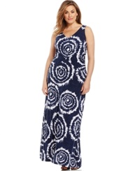 Inc International Concepts Plus Size Tie Dyed Maxi Dress Dec Tie Dye