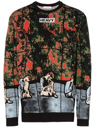 J.W.Anderson Jw Anderson X Gilbert And George Graphic Intarsia Sweater Black