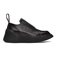 Julius Black Leather Platform Loafers