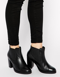 Asos Each And Every Day Wide Fit Leather Ankle Boots Black