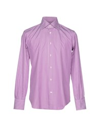 Mazzarelli Shirts Purple