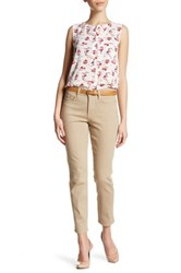Nydj Clarissa Colored Stretch Skinny Ankle Jean Petite Beige