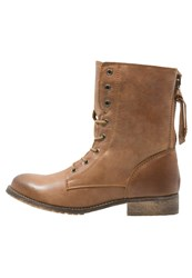 Zign Laceup Boots Fozzy Tan Brown
