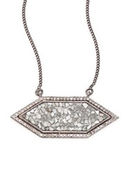 Shana Gulati Shashi Raw Sliced Diamond Pendant Necklace Silver