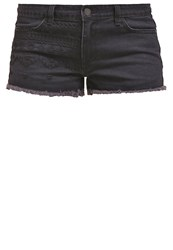 Evenandodd Denim Shorts Black Black Denim