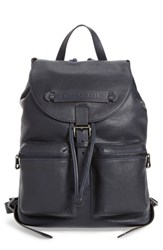Longchamp 3D Leather Backpack Blue Midnight Blue