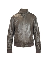 Forzieri Men's Dark Brown Soft Leather Bomber Jacket
