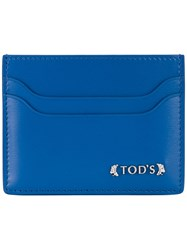 Tod's Classic Cardholder Men Calf Leather One Size Blue