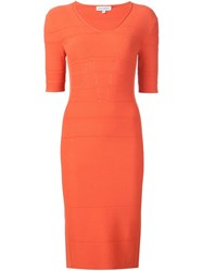Narciso Rodriguez Mid Bodycon Dress Yellow And Orange
