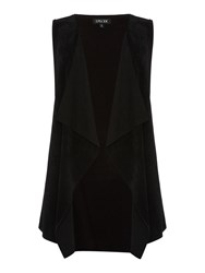 Episode Sleeveless Suede Gilet Black