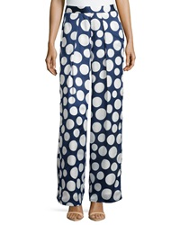 Philosophy Polka Dot Palazzo Pants Navy White