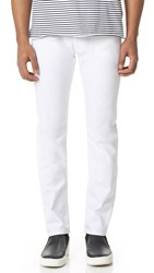 Z Zegna Straight Fit Jeans White