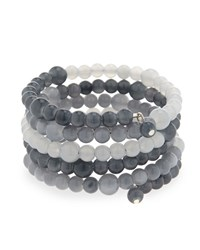Emily And Ashley Greenbeads By Emily And Ashley Beaded Ombre Wire Wrap Bracelet Gray