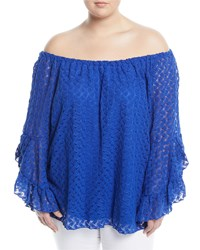 Fever Bell Sleeve Lace Blouse Multi