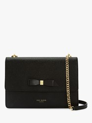 Ted Baker Joanaa Bow Leather Cross Body Bag Black