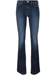 Love Moschino Stonewash Bootcut Jeans Blue
