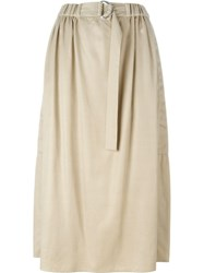 Kenzo Pleated Skirt Nude And Neutrals