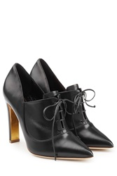 Rupert Sanderson Zena Leather Ankle Booties Black