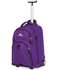 High Sierra Freewheel Rolling Backpack Purple