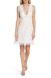 French Connection Women's Zahra Fit And Flare Dress Summer White
