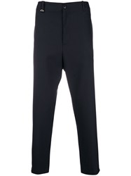 Oamc High Waisted Cropped Trousers Blue