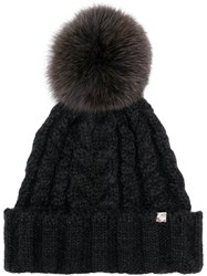Ca4la Knitted Pattern Hat Black