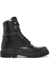 Moncler Patty Leather Ankle Boots Black