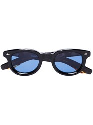 Jacques Marie Mage Akira Round Sunglasses Black