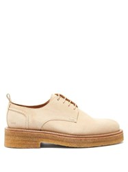 Ami Raised Sole Suede Derby Shoes Beige