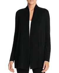 Eileen Fisher Shawl Collar Open Cardigan Black