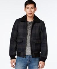 American Rag Buffalo Plaid Bomber Jacket