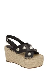 Marc Fisher 'S Ltd Rella Espadrille Platform Sandal Black Leather