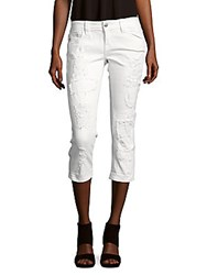 Miss Me Distressed Cropped Jeans White