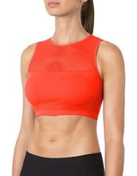 Mpg Sleeveless Athletic Fit Bra Fiery Coral