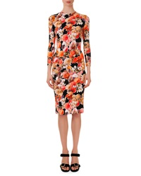 Givenchy Floral Print Fitted Jersey Dress 36 Us2