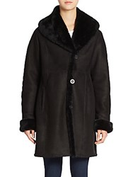 Blue Duck Shearling And Suede Coat Black