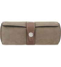 Brunello Cucinelli Contrasting Suede Watch Holder Taupe