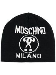Moschino Double Question Mark Beanie Black
