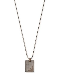 Emporio Armani Stainless Steel Dog Tag Pendant Necklace Egs2132 Silver