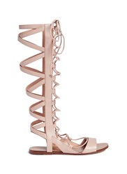 Sigerson Morrison 'Bright' Knee High Leather Gladiator Sandals Pink