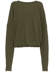 Unravel Project Knt Drs Wn Ls Raw Os Green